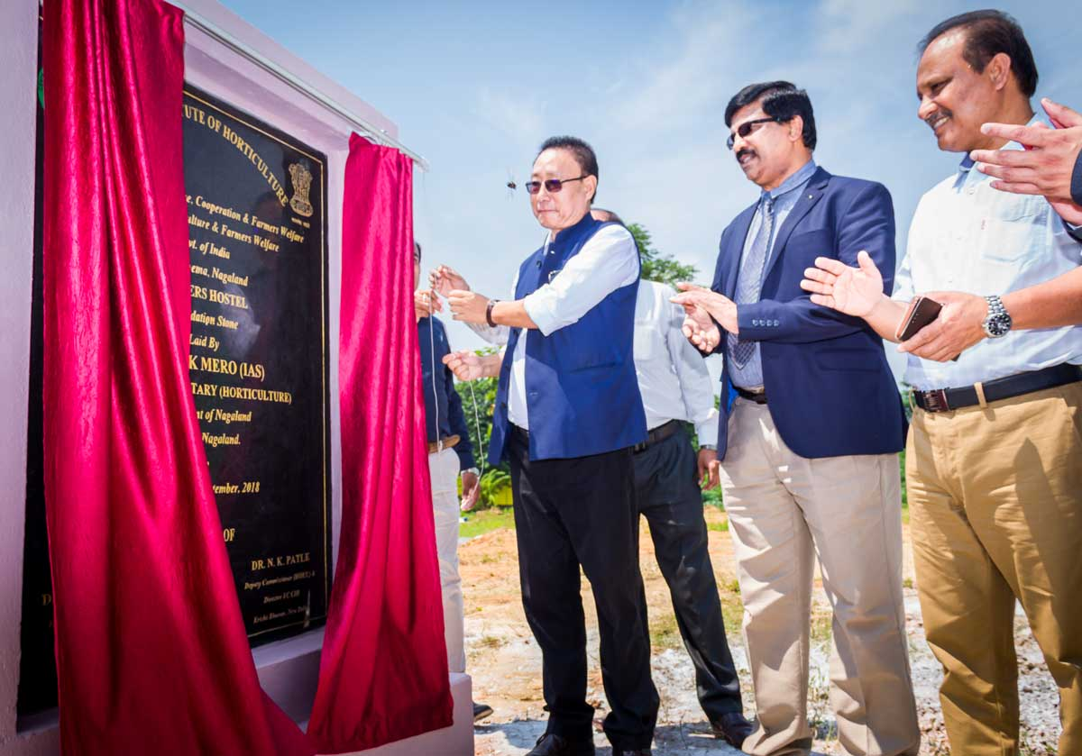 Laying of Foundation Stone of Farmers Hostel at CIH, Nagaland